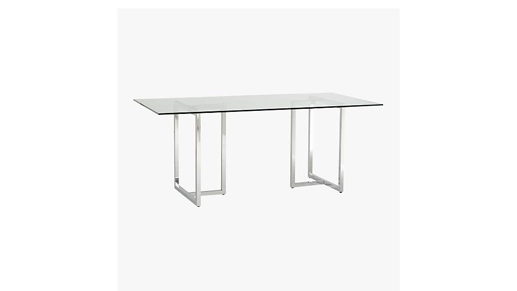 silverado rectangular dining table CB2
