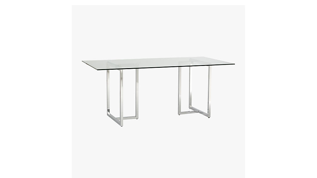 silverado 72 chrome dining table cb2