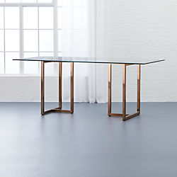"silverado brass 72"" rectangular dining table"