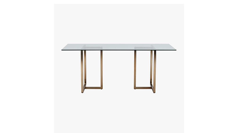 "silverado brass 72"" rectangular dining table"