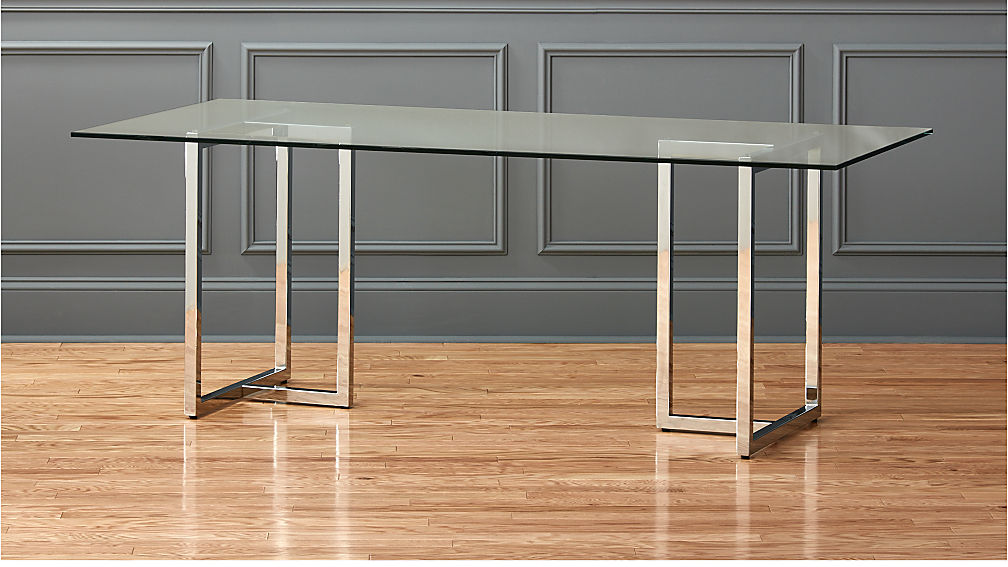 Silverado 80 Quot Glass And Chrome Dining Table Reviews Cb2