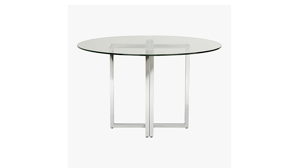 silverado chrome 47 round dining table CB2