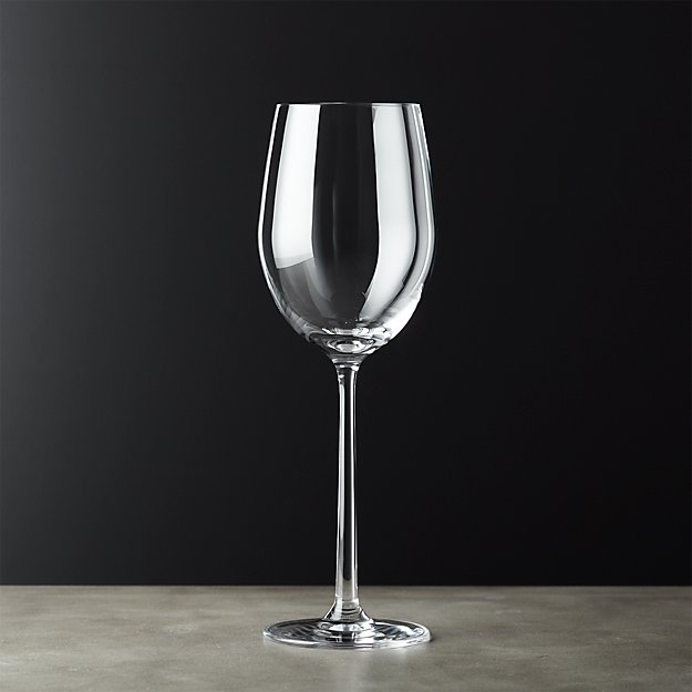 Sip white wine glass cb2 for Large white wine glasses