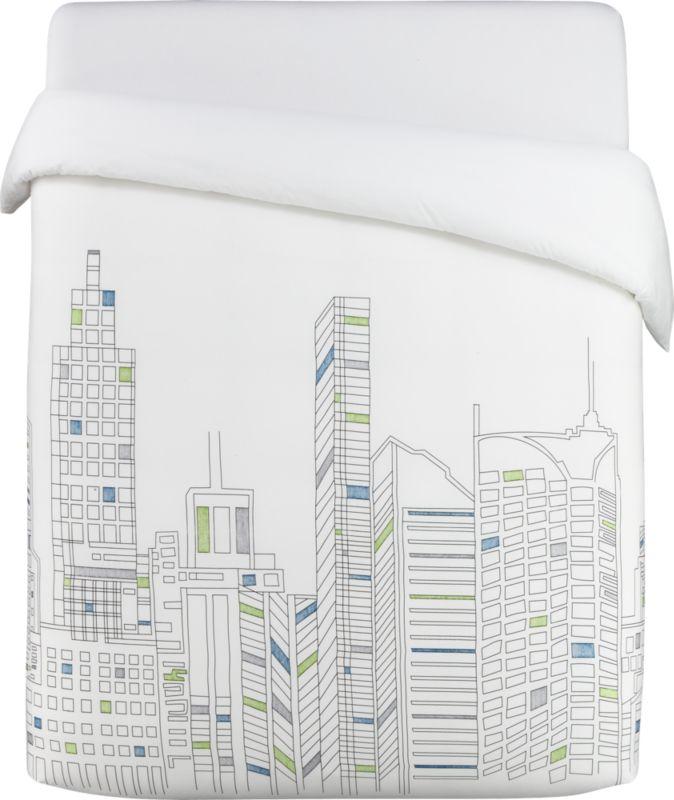 skyline full/queen duvet cover