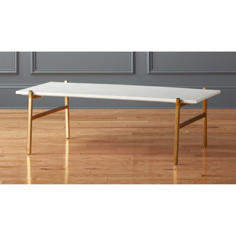slab small marble top coffee table cb2