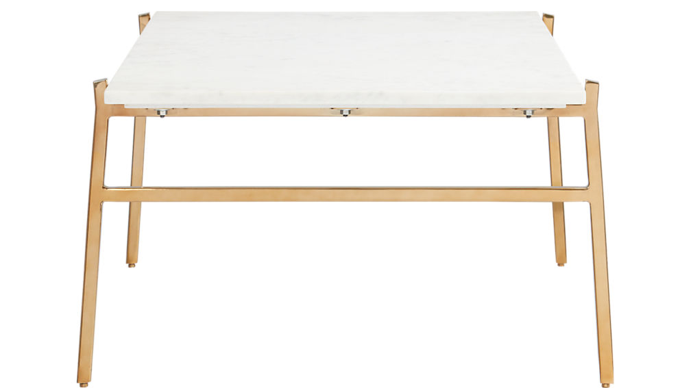 slab large marble coffee table with brass base