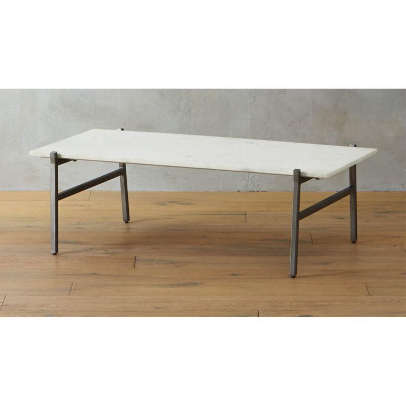 marble slab coffee table cb2