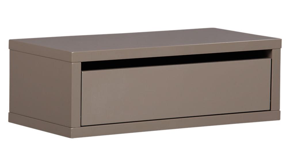 slice wall mounted nightstand-shelf | cb2