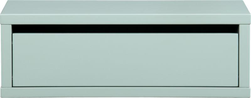 slice mint wall mounted storage shelf