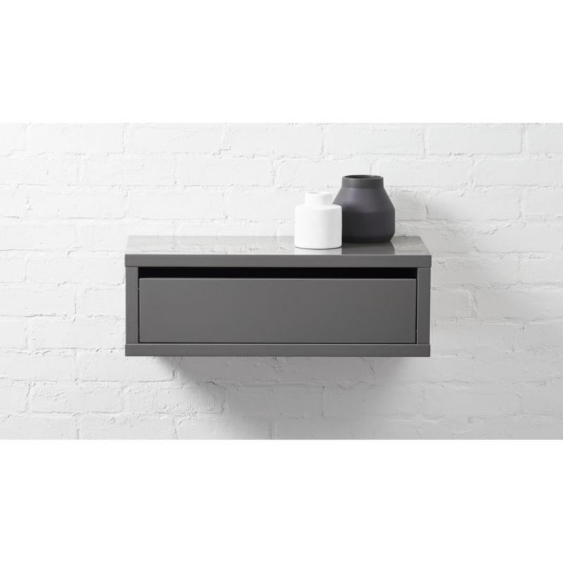 slice wall mounted nightstandshelf CB2