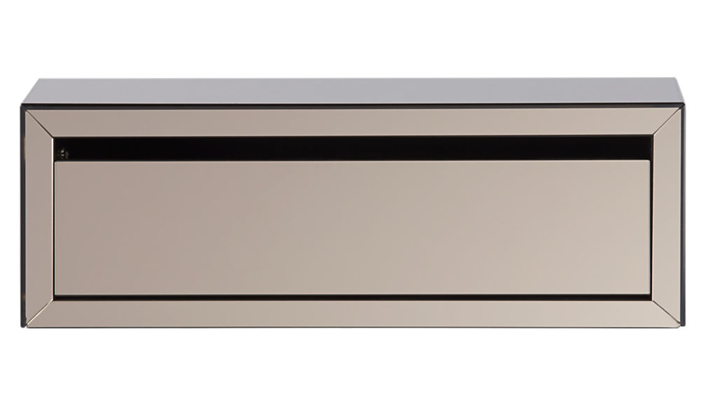 slice mirror wall mounted storage shelf