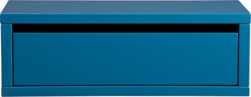 slice swoon blue wall mounted storage shelf