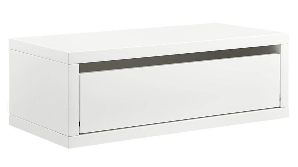 Slice White Wall Mounted Shelf Reviews Cb2