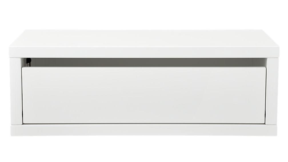 slice white wall mounted storage shelf