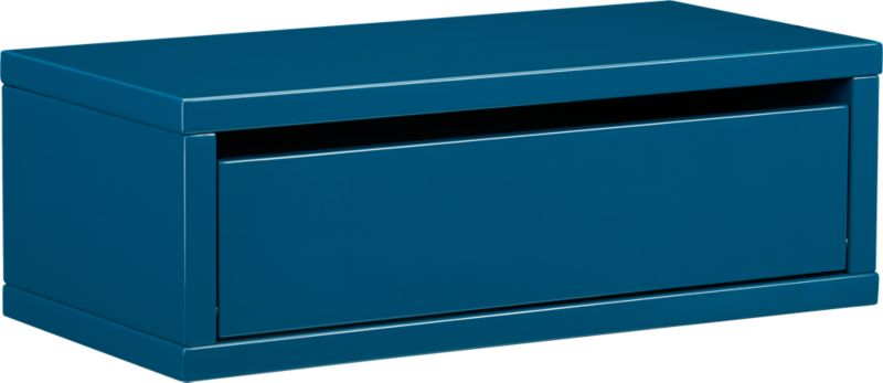 slice blue wall mounted storage shelf