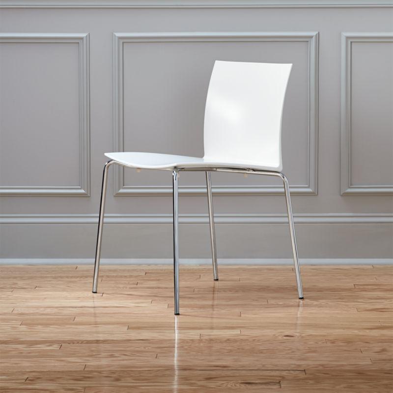 Slim White Chair | CB2