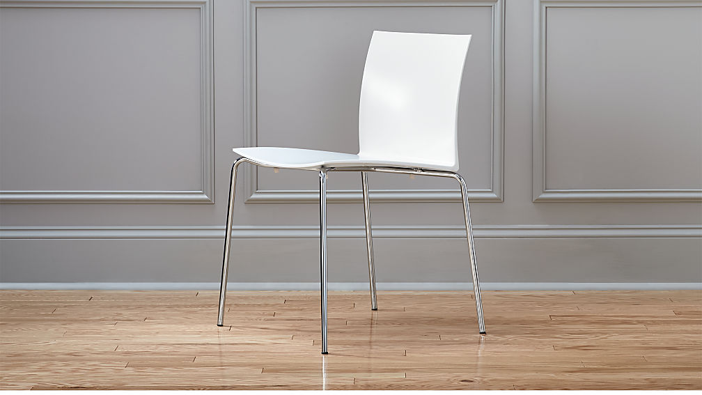 slim white chair