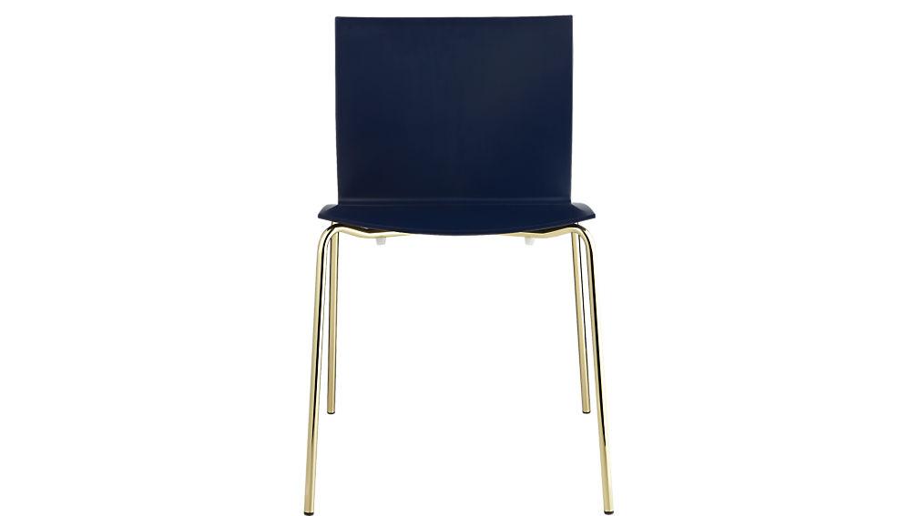 slim navy chair