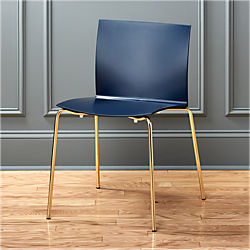 slim navy chair
