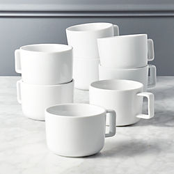 set of 8 of slip mugs