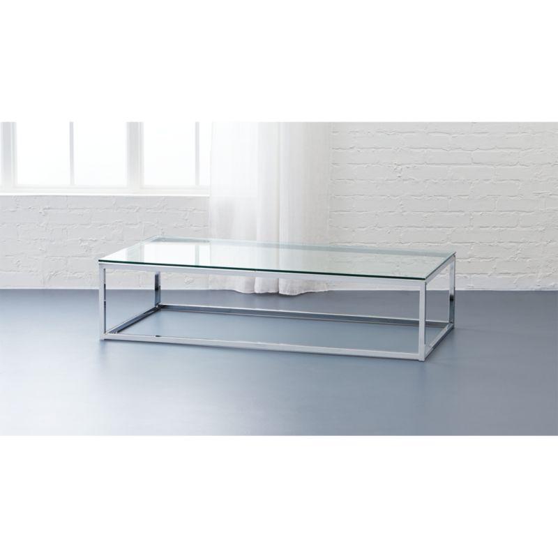 smart glass top coffee table CB2