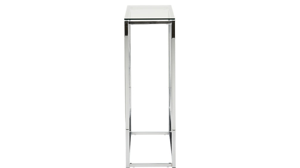 smart glass top console table