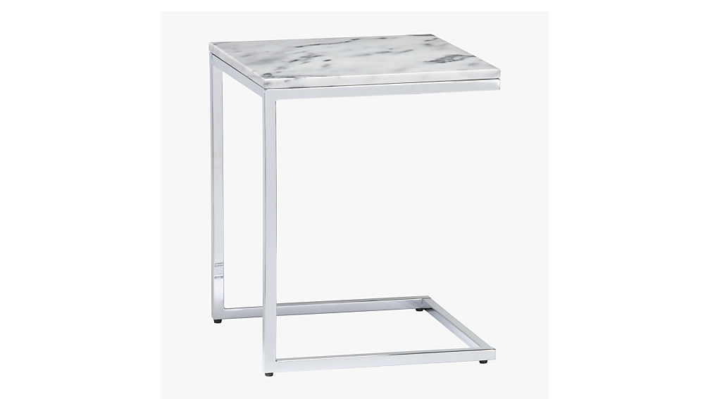 Smart Marble Top Side Table Reviews Cb2