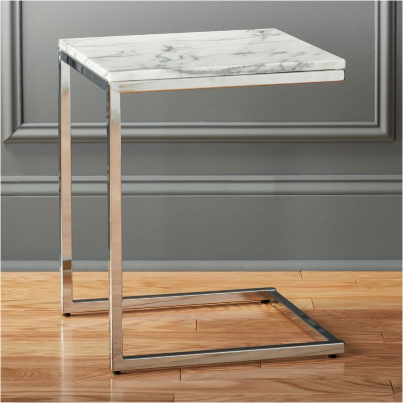 smart marble top side table | cb2