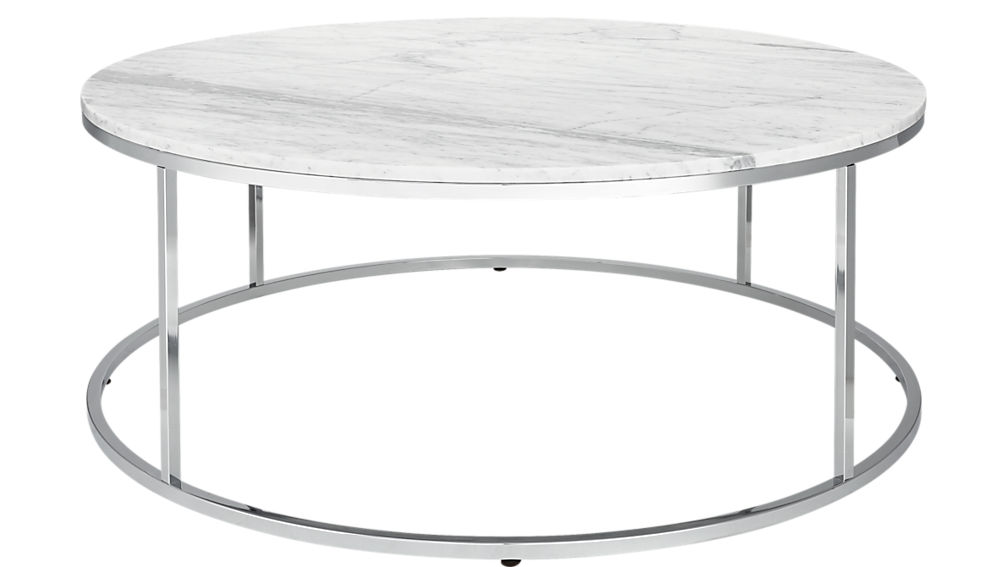 Smart large round marble top coffee table cb2 for Cb2 round coffee table