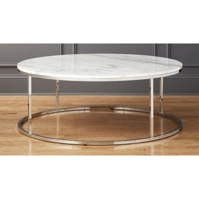 Smart Large Round Marble Top Coffee Table in coffee tables Reviews