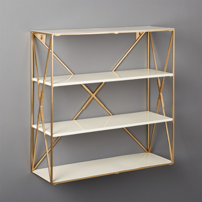 Smith Large Brass Wall Shelf Reviews Cb2