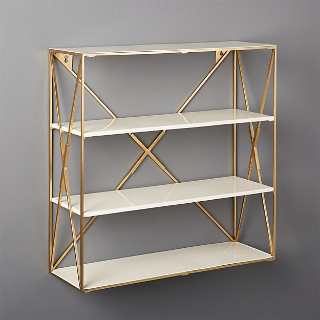 Smith Large Brass Wall Shelf Cb2