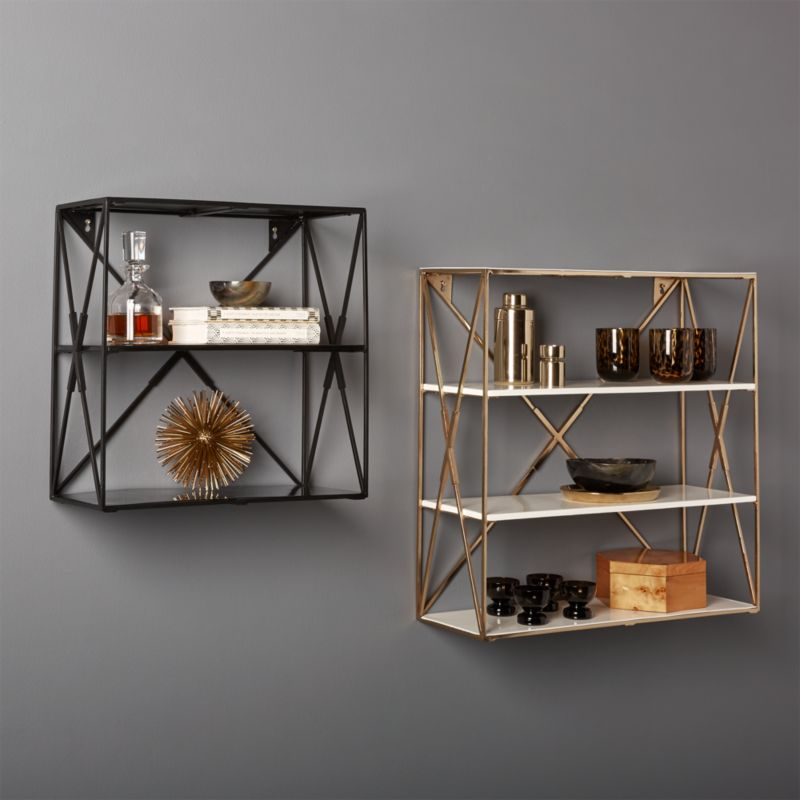 Modern Wall Shelving modern shelving and wall mounted storage | cb2