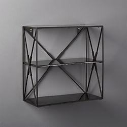 Smith Small Black Wall Shelf