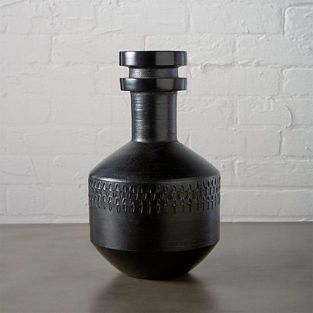 smoke stack black vase