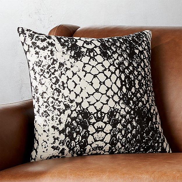 """16"""" Patterned Snakeskin Pillow"""