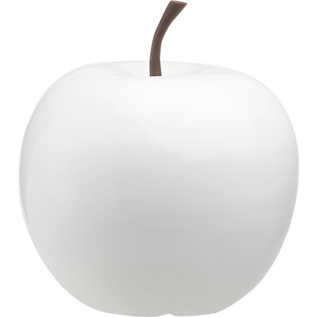 white small snow apple