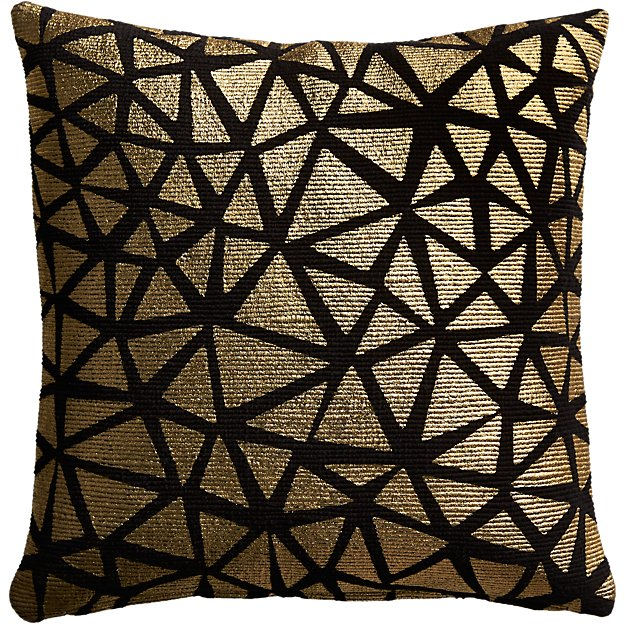 "16"" soiree black pillow"