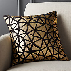 """16"""" soiree black pillow with down-alternative insert"""