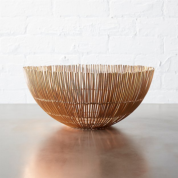 soleil small copper wire bowl
