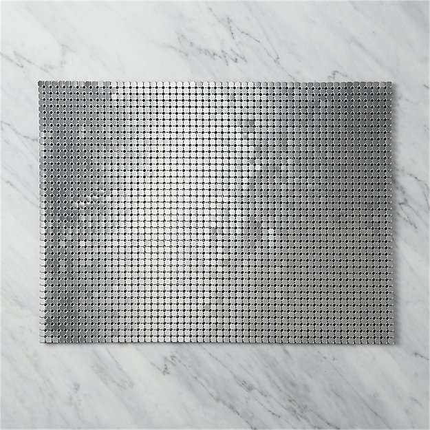 spangle pewter placemat