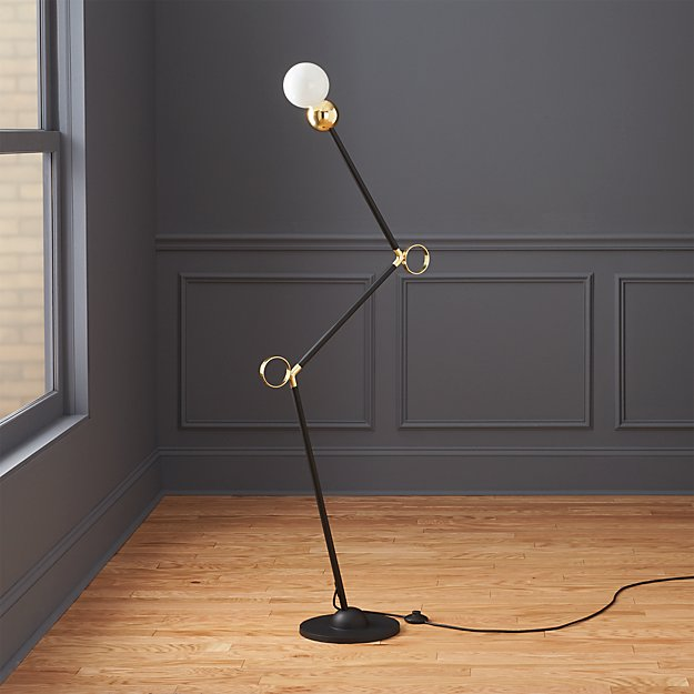Sphera floor lamp cb2 for Modern floor lamp cb2