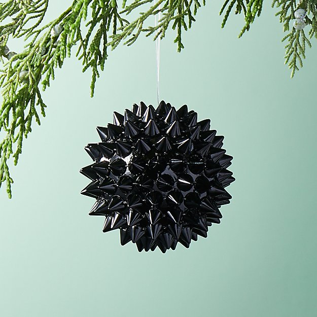 Spike Ball Black Ornament
