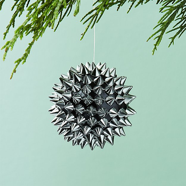 Spike Ball Gunmetal Ornament