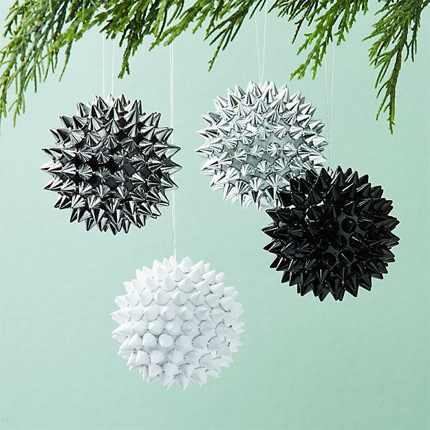 Spike Ball Ornaments Set of 4
