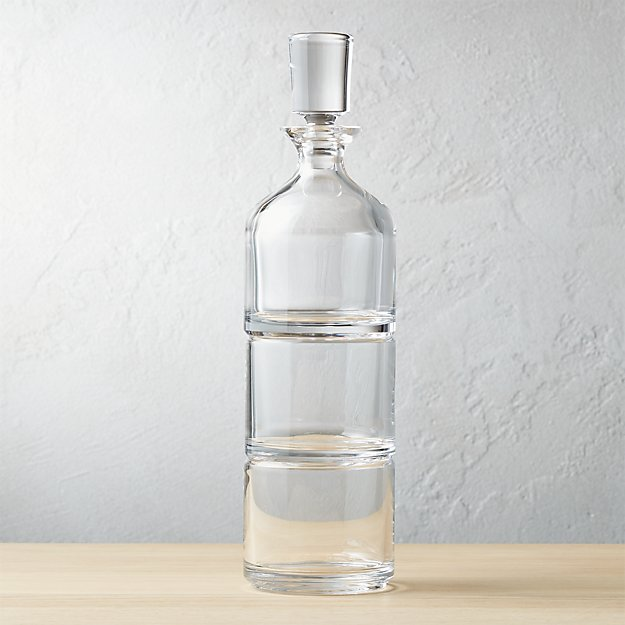 stacked decanter set