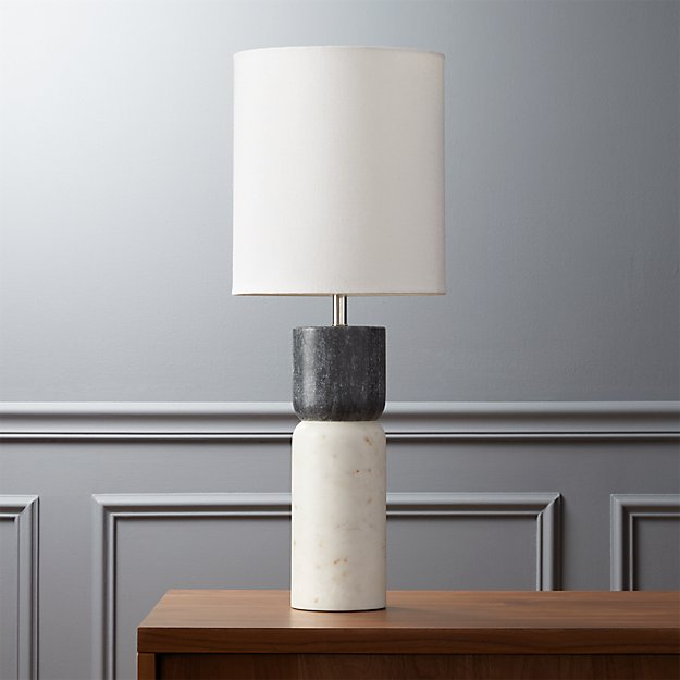 stacked marble table lamp