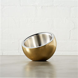 stainless steel gold mini snack bowl