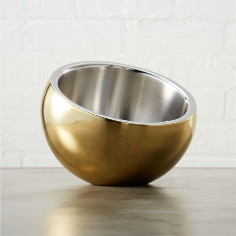 stainless steel gold snack bowl