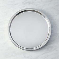 stainless steel shiny bar tray